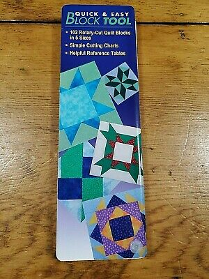 Quick & Easy Block Tool Rotary Cut Quilt Blocks Guide Free Shipping