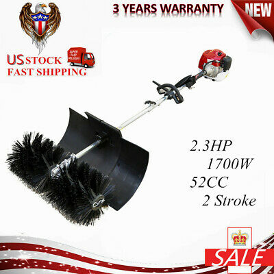 2.3HP 52CC GAS Power Hand Held Cleaning Sweeper Broom Driveway Artificial New