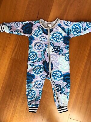 Baby Bonds Winter Quilted Zip Suit Size12-18mths