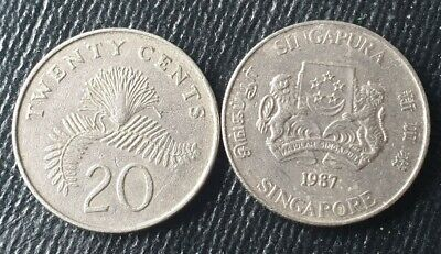 Singapore 20 cents, dates vary