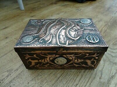Antique Arts and Crafts Copper Box - Stunning Craftsmanship
