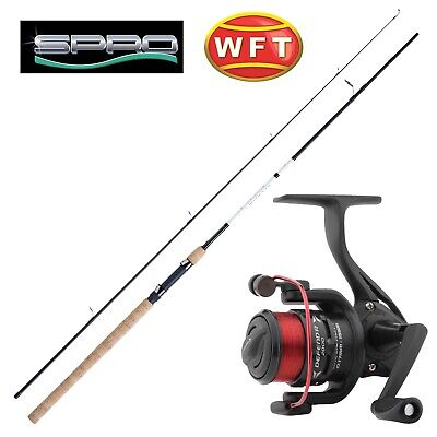 Wft Caña 2,40m 5-30g & Spro Carrete & Cable