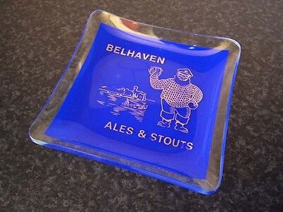 Collectable Vintage British Bar Advertising Belhaven Ales & Stouts Glass Dish