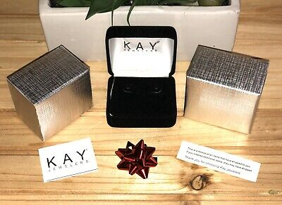 Kay Jewelers Black Velvet Empty Necklace Gift Box and Outer Matte Gift Box