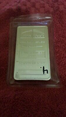 10 oz NTR SILVER BAR TROY OUNCES 999 LIKE NEW