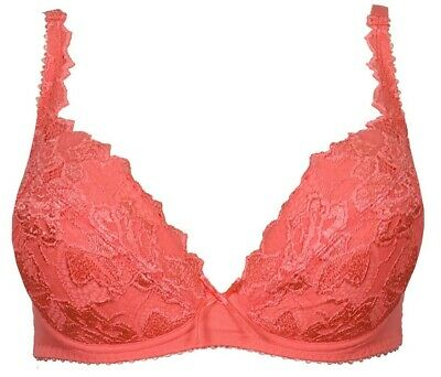 Lepel Fiore Padded Plunge Bra 93200 Coral - New Seasons Colour SS20