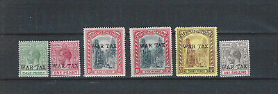 British Comm Bahamas 1918 mint stamps - WAR TAX