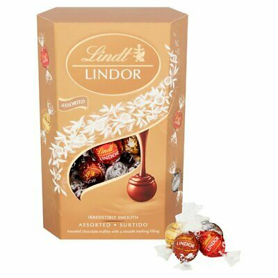 Lindt Lindor Variety 4 x 337g Boxes Best Before 31/07/20