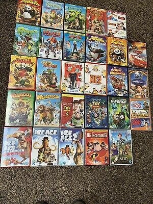 Joblot Of 28 Kids DVDs Disney Pixar Dreamworks Children's Film Bundle