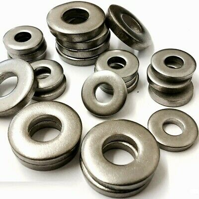 A4 Stainless Steel Marine Grade Extra Thick Flat Spacer Washers Din 7349 Metric