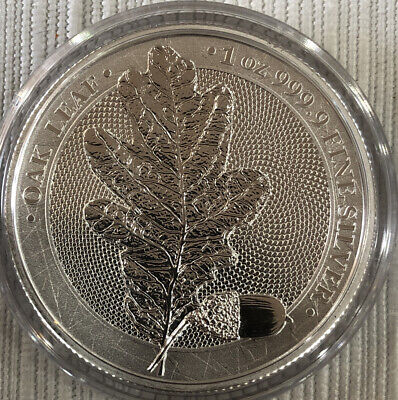 2019 Germania 5 Mark Oak Leaf 1oz Silver Coin (BL:009)