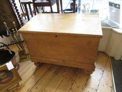 Victorian Pine footed blanket box