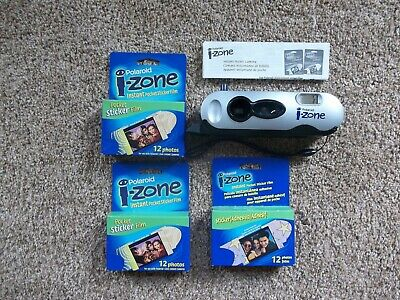 POLAROID I-Zone INSTANT POCKET CAMERA~Silver Edition~3 Packs SEALED FILM~Expired