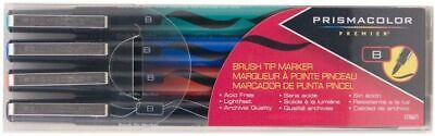 Prismacolor Brush Tip Markers Black Blue Red Green 1736671 New In Pack