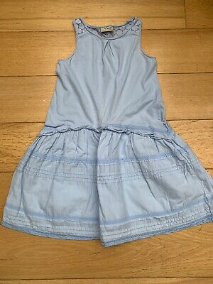 Next Girls Light Blue Sleeveless Dress. Age 8 Years
