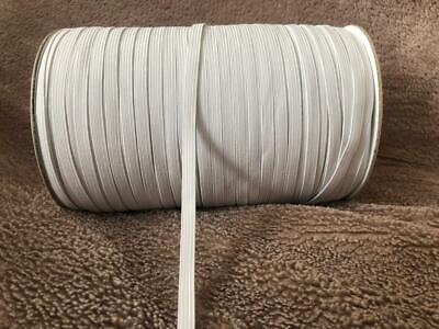 6mm White Elastic 8 Cord Excellent Quality Mask Sewing Clothing 1m 5m 10m