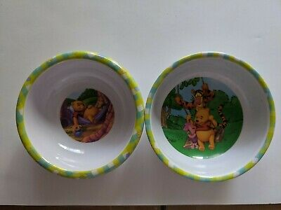 Disney Winnie the Pooh Piglet Two Plastic Childrens Bowls Adorable Zak Design