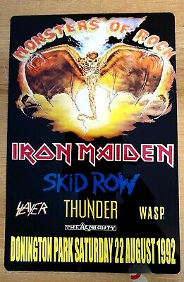 Iron Maiden Monsters Of Rock 1992 Castle Donington  8X12 Inch Metal Sign