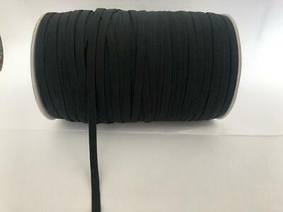 6mm Black Elastic 8 Cord Excellent Quality Mask Sewing Clothing 1m 5m 10m
