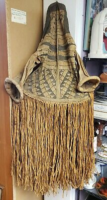 Mid 20th Century Brazilian Cubeo Tawu Onye Ceremonial Barkcloth Body Mask