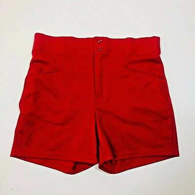 Vintage BIKE Men's Polyester Active Coach Gym Teacher Shorts Red Sz. Large