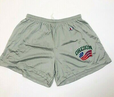 Vintage 1990 Champion Oregon Freedom Bowl VII Grey Nylon Mens Shorts XL USA Made