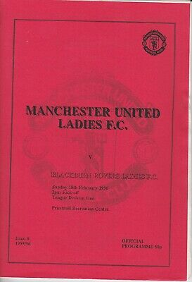 RARE MAN.UTD LADIES PROG.v BLACKBURN ROVERS 1996, VINTAGE, VERY COLL. EXC.COND.