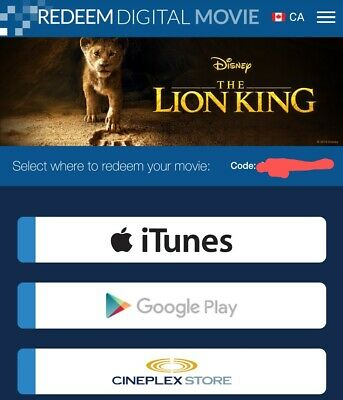 The Lion King (2019) Digital HD - CANADA ONLY