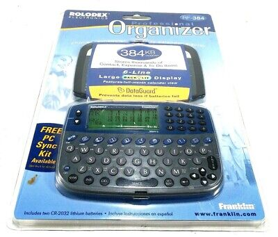 Rolodex Personal Electronic Organizer RF-384 384Kb by Franklin New