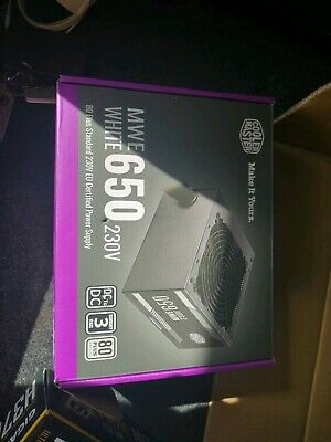 Cooler Master Gaming Power Supply 650W 80 Plus White MWE Non Modular ATX PSU