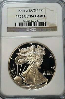 2004-W $1 Proof Silver American Eagle PF69 Ultra Cameo NGC