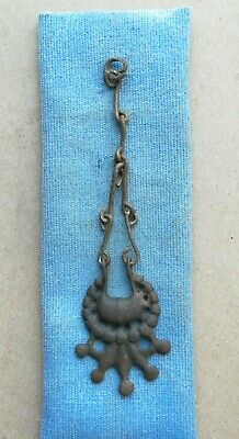 Ancient Viking Bronze on chain pendant AMULET GREAT SAVE