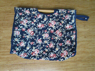 Knitting Bag With Wooden Handles Zipper And Large Pocket.