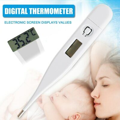 Digital LCD Medical Oral Thermometer Heating Fever Temperature for Baby Kid Adul