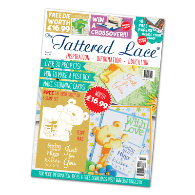Tattered Lace Magazine Issue 37 Brand New Sealed Including Dies & Stamps