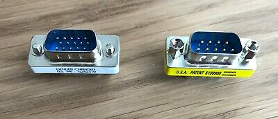 Gender Changers X 2 DB9 & DB15 Pin Male to Male