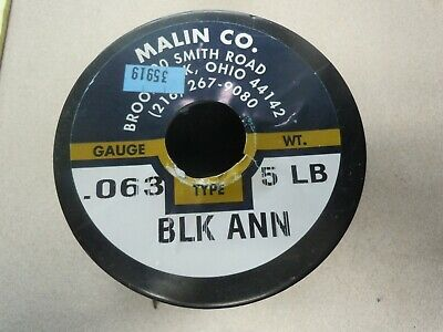 "Baling Wire, 16 ga., Black Annealed Wire, 0.0625"" Diameter, 480 ft. Length"