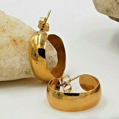 Thick Hoops Earrings in 14kt Yellow Gold