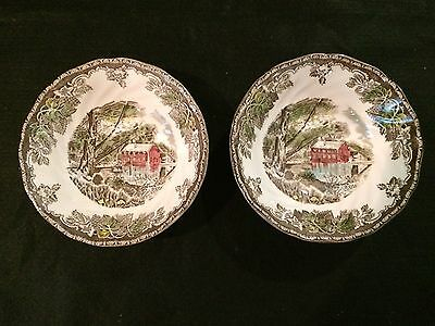 Johnson Bros The Friendly Village 2 Coupe Round Cereal Bowl Old Mill England