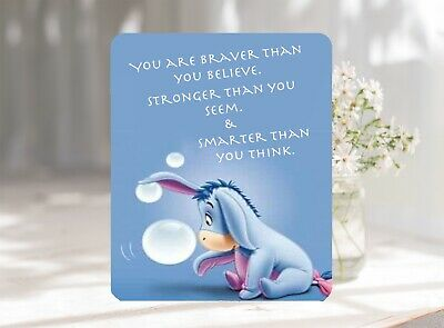 Eeyore Braver Quote Softable Anti-Slip Mouse Pad Mat 22 x 18 cm UK Seller