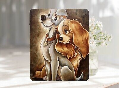 Lady & Tramp Oilpanting Softable Anti-Slip Mouse Pad Mat 22 x 18 cm UK Seller