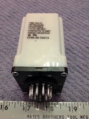 Potter & Brumfield CHB-38-70013 Time Delay Relay New No Box