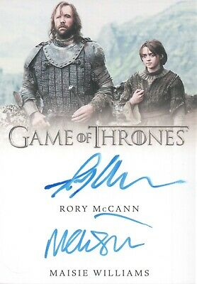 Game Of Thrones Season 8, Maisie Williams / Rory McCann Dual Autograph Card