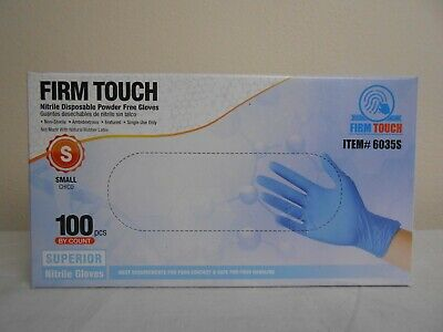 100 PCS Nitrile Disposable Gloves Box - Powder & Latex Free - Small Size