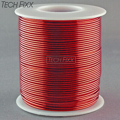 Magnet Wire 14 Gauge AWG Enameled Copper 80 Feet Coil Winding & Crafts 1Lb Red