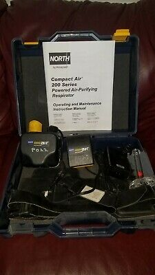 HONEYWELL NORTH CA201D PAPR Respirator System,With Hose, Hood, Hard Hat, etc