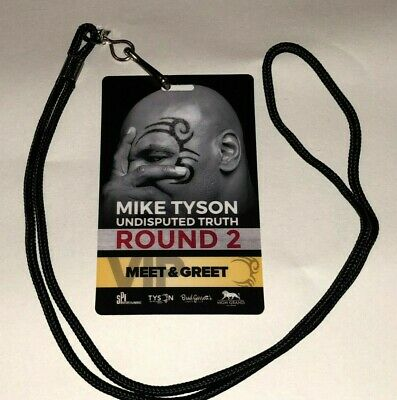 """MIKE TYSON MEET & GREET VIP NECKLACE """"ROUND 2"""" of his UNDISPUTED TRUTH 2017"""