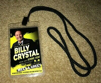 Billy Crystal Meet & Greet Laminate Pass Necklace Vip - Shows Tour Movies Oscars