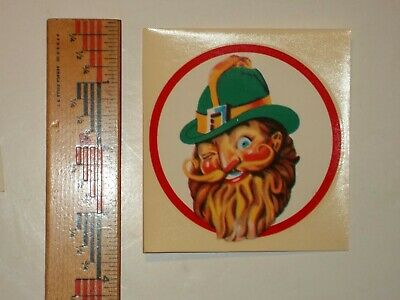 FREE MAILING!NOS,Gnome DECAL VERNOR'S Ginger Ale 1953Soda Fountain,Glass Display