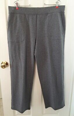 New T by Talbots Womans Pull On Pants Slacks Size XLP Relaxed Fit Elastic Waist